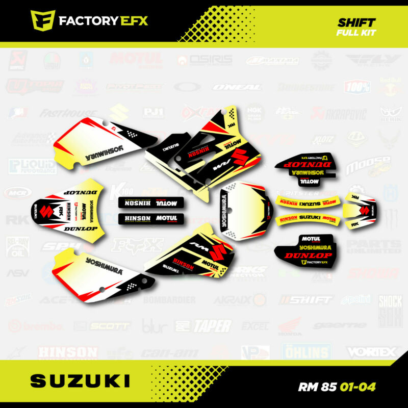 $39.99 • Buy Shift Graphics Kit Fits 01-04 Suzuki RM85 Racing MX Shrouds Decal RM 85 Decal