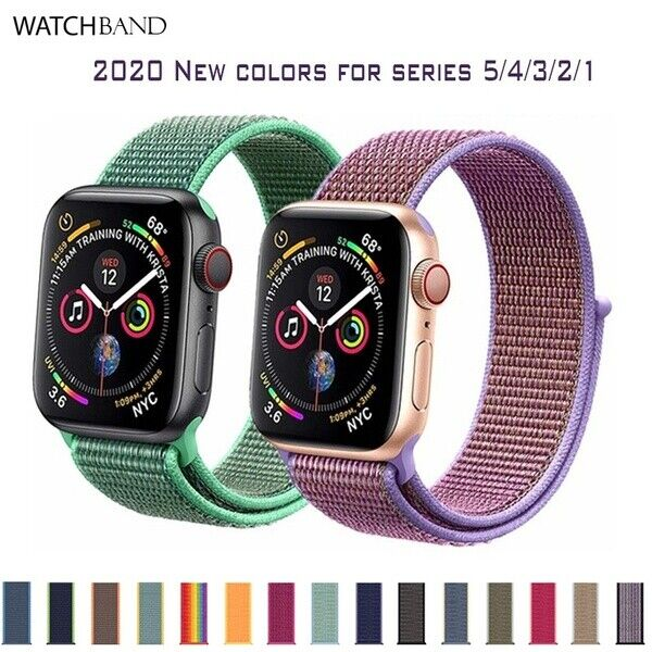 $ CDN9.99 • Buy Woven Nylon Loop Wrist Watch Band Strap For Apple Watch Series 5 4 3 2 1