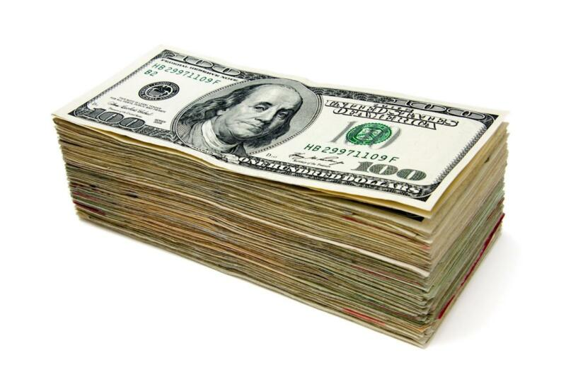 $9.99 • Buy MONEY STACK GLOSSY POSTER PICTURE PHOTO Hundred Dollar Bills Ben Franklin 1558