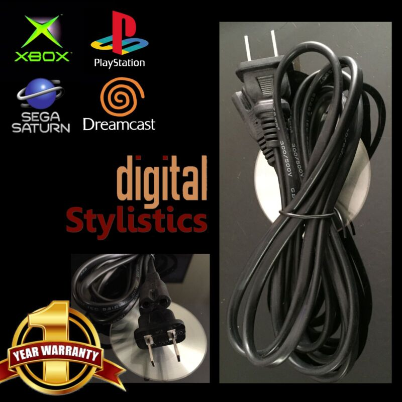 AC Adapter Power Cord 6FT. Playstation 1 PS2 PS4 Xbox Original Xbox One S Saturn • 4.99$