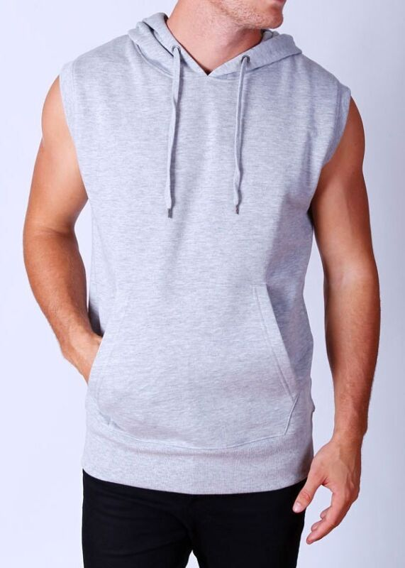 $16.99 • Buy Men's Gray Vest Hoodie Sleeveless S-3XL Gym Mma Boxing Running Workout