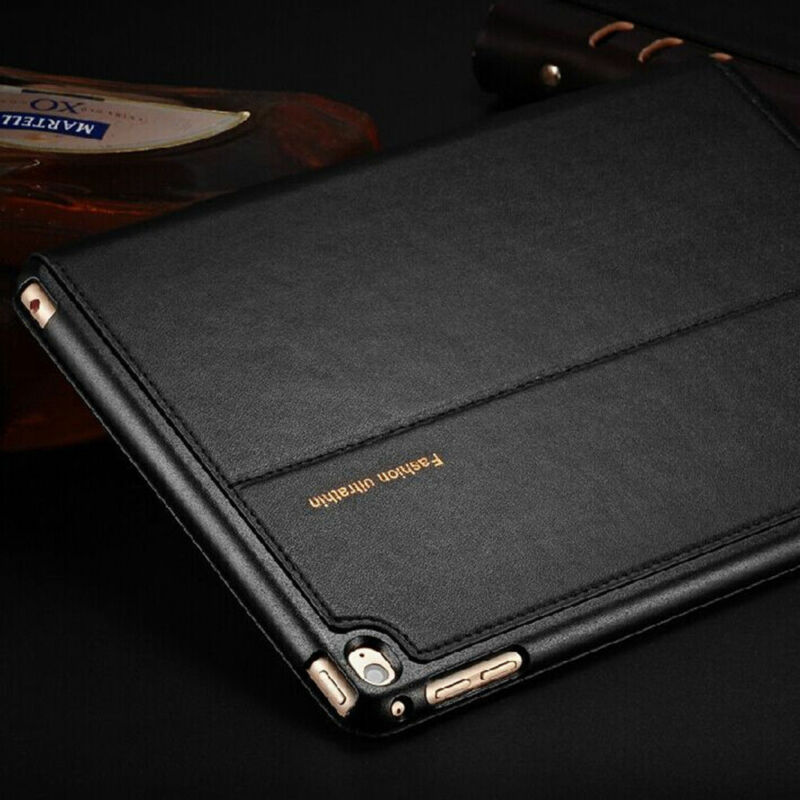 $12.09 • Buy Top Quality Genuine Leather Protective Smart Case Cover For IPad 2 3 4/mini/ Air