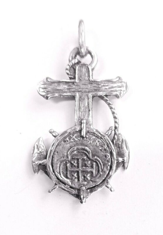 ATOCHA Coin Pendant Anchor Shipwreck Sunken Treasure Jewelry • 47$
