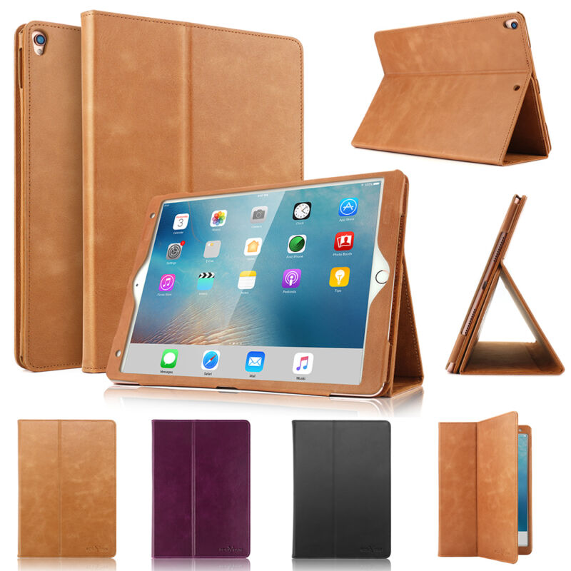 $19.99 • Buy 100% Real Genuine Leather Folio Wake/Sleep Case Cover For IPad Pro 10.5  Air 3