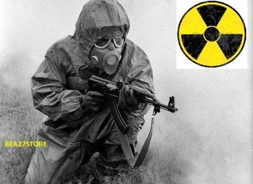 Radiation Nbc Hazmat Suit With Sealed Gas Mask Spare Filters Nbc Protection Set • 70$