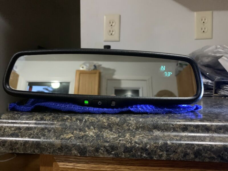Gentex 455 Auto-dim Mirror With Compass And Temp-Two Line Display FREE WireCover • 132.50$