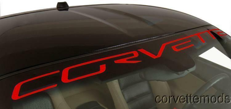 C6 2005-2013 Corvette Windshield Decals - Customization Options • 19.99$