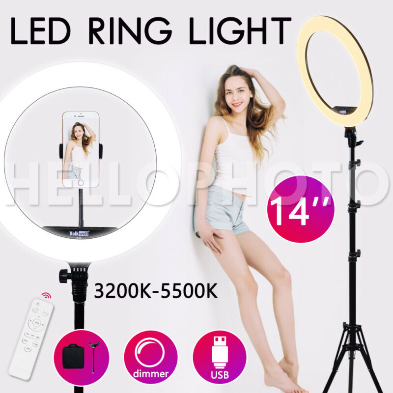 AU65.85 • Buy 14 5500K Dimmable Diva SMD LED Ring Light Diffuser Stand Make Up Studio Lighting