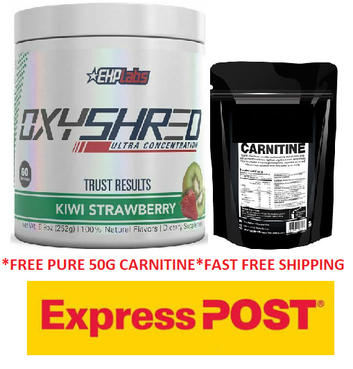 AU64.95 • Buy Ehplabs Oxyshred Thermogenic Fat Burning Ehp Labs Oxy Shred Free 50g Lcarnitine.