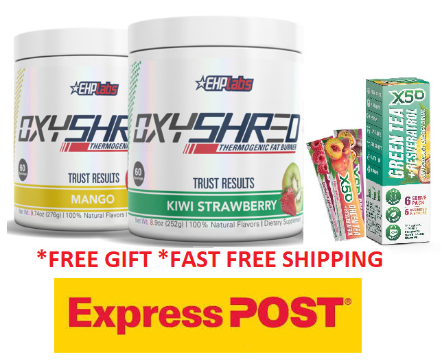 AU113.90 • Buy Oxyshred Ehplabs/thermogenic Fat Burning Weight Loss/fat Burning Twin Pack