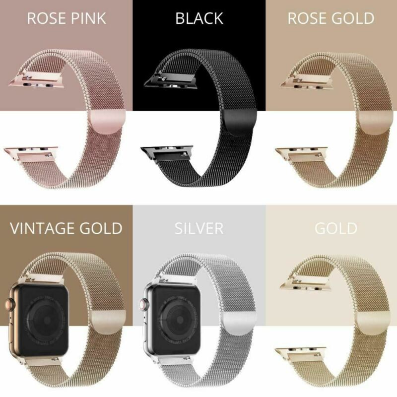 AU6.49 • Buy Apple Watch Series 4,3,2,1 Milanese Magnetic Stainless Steel Strap IWatch Band