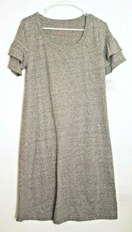 2bdce81f08a85 ISABEL MATERNITY By Ingrid & Isabel Knit Ruffle Sleeve T-shirt Dress -  Small •