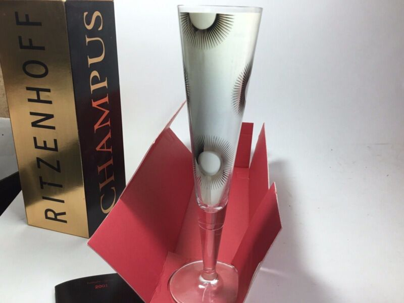 $45 • Buy RITZENHOFF Champus Champagne Glass With Napkin 2001 By Formfindung NEW
