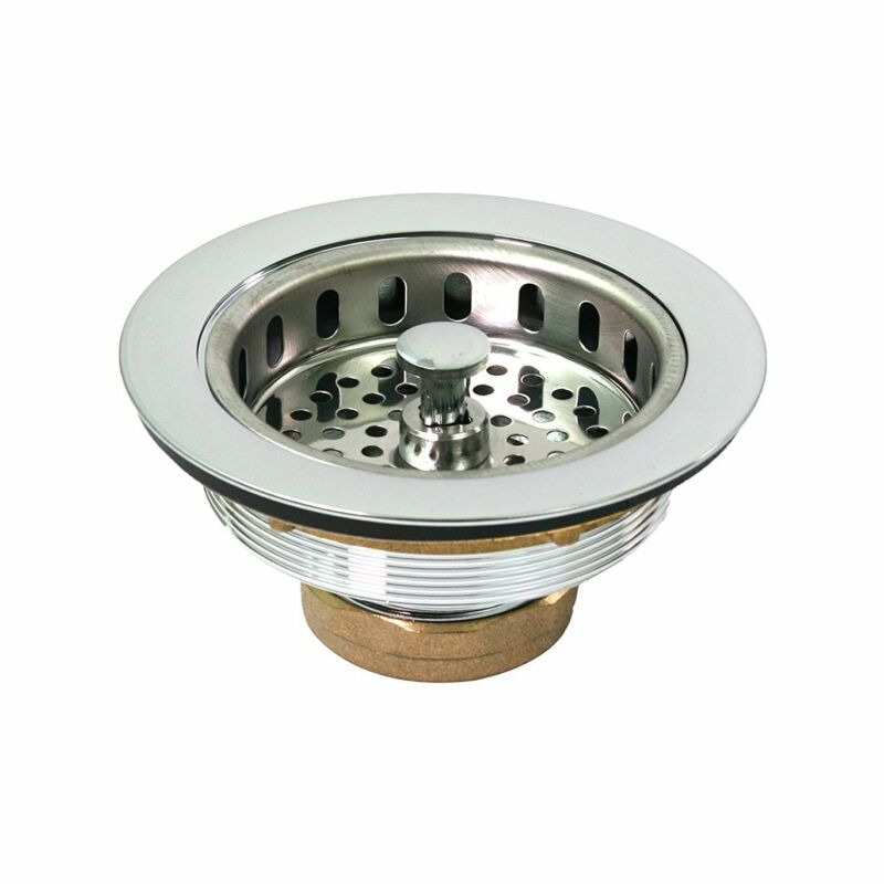 $16.99 • Buy Everflow Heavy Duty Sink Strainer With Chrome Plated Solid Brass Body 7512