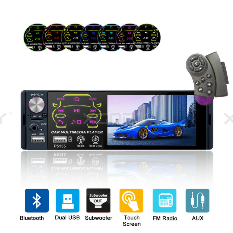 7  Double DIN Car Stereo Radio MP5 Player Touchscreen BT Audio In-dash Head Unit • 35.98$