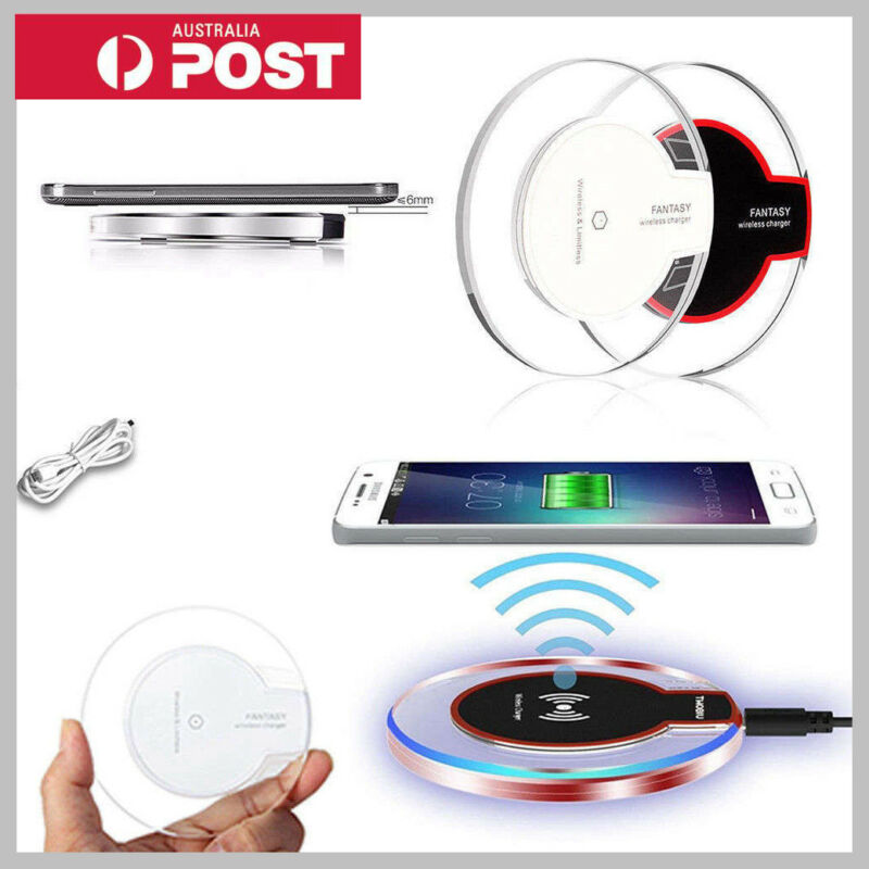 AU9.99 • Buy Qi Wireless Charger Charging For IPhone X XS MAX XR 8 Plus Samsung S10 S9 Plus