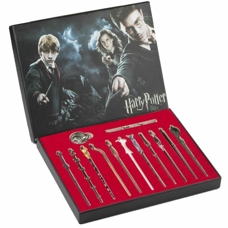 $16.97 • Buy New 11 PCS Harry Potter Hermione Dumbledore Snape Magic Wands With Box Halloween