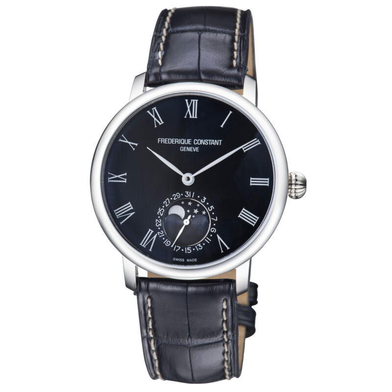 Frederique Constant Slimline Moonphase Automatic Men's Watch FC-705NR4S6 • 1,075$