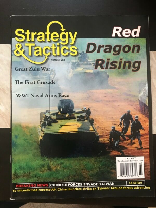 Strategy & Tactics S&T #250 W/Red Dragon Rising Mag EX • 19.99$