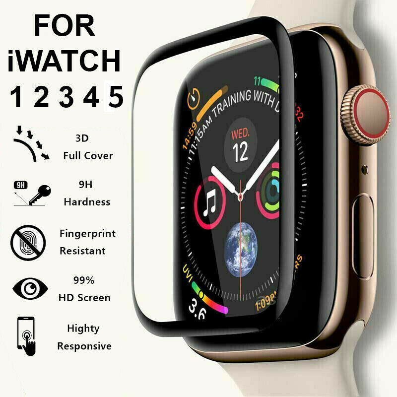 $ CDN4.09 • Buy Apple Watch Tempered Glass Protector Screen IWatch Series 38/40/42/44 Mm 5 4 3 2