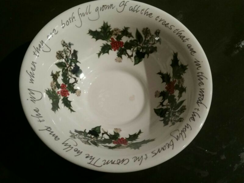 Portmeirion THE HOLLY AND THE IVY - 5 1/2  Footed Basin Small Bowl  • 12$