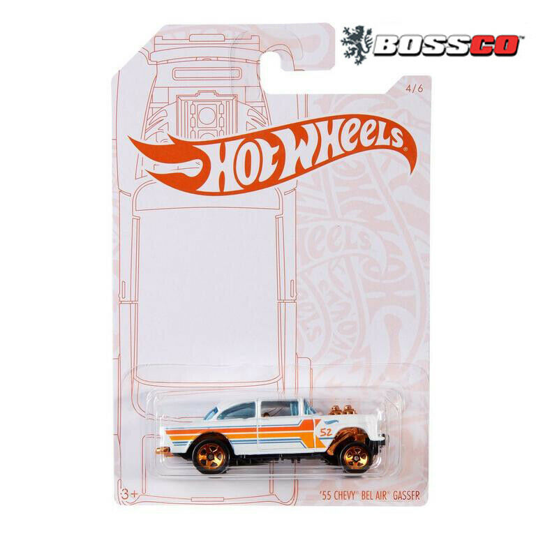 Hot Wheels 1/64 PEARL And CHROME 55 Chevy Bel Air Gasser • 6.99$