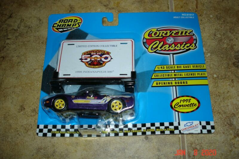 $7.99 • Buy 1998 Chevy Corvette, New Unopened Indianapolis 500 Pace Car 1/43 Chevrolet Vette