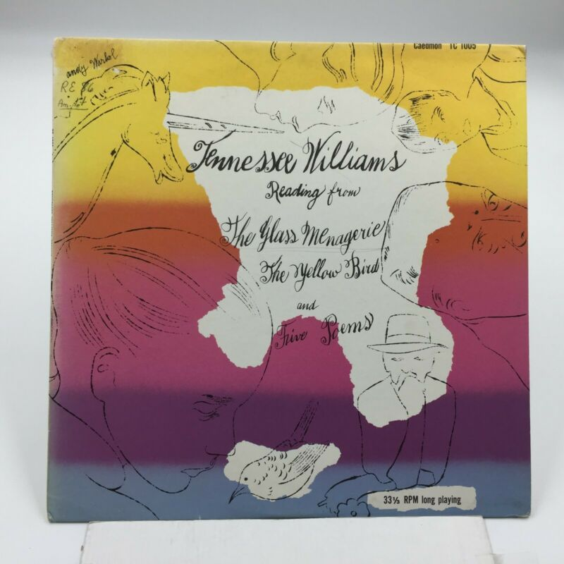 $49.99 • Buy Andy Warhol Cover Art   Tennessee Williams  CAEDMON TC1005   1960