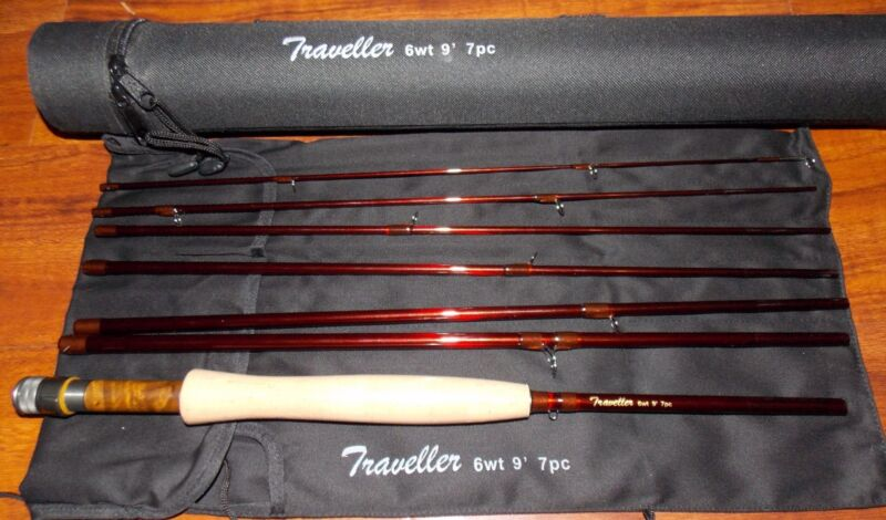 $119.95 • Buy Traveller 6WT Fly Fishing  Rod 9FT 7SEC Carbon  &  Rod Case FREE 3 DAY DELIVERY
