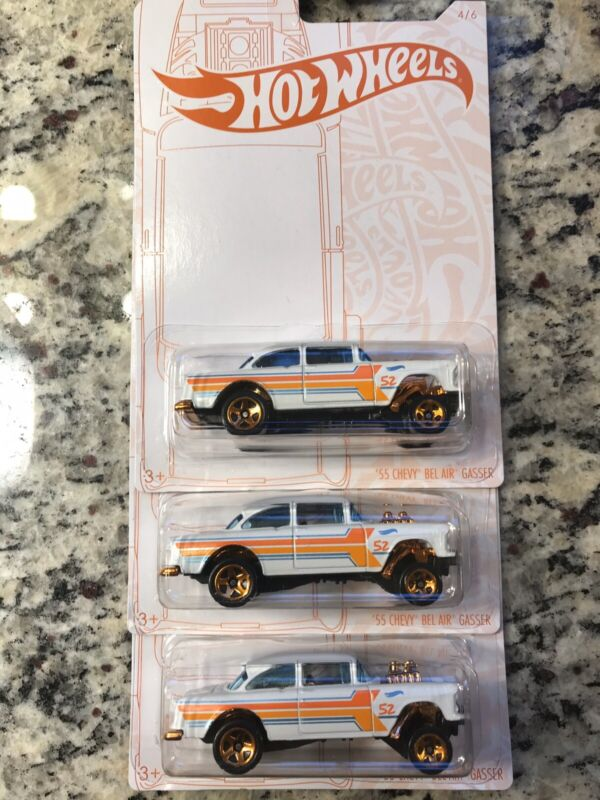 $12.99 • Buy Hot Wheels New For 2020 '55 Bel Air Gasser~lot Of 3~FREE SHIPPING In The US!