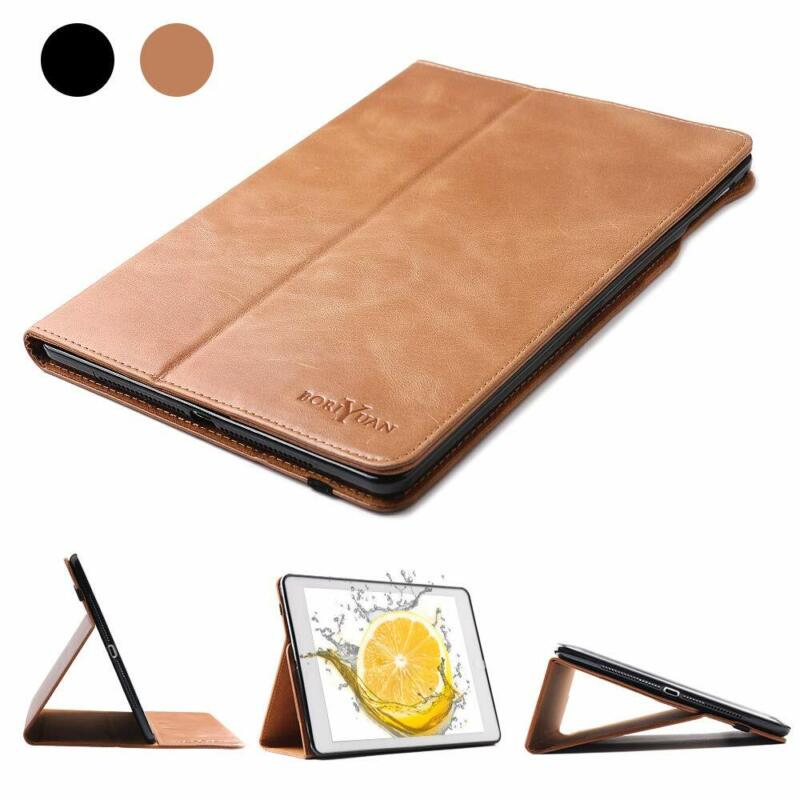 $39.99 • Buy 100% Real Genuine Leather Case Auto A/Wake Wallet Cover For IPad Mini 5 4 3 2 1