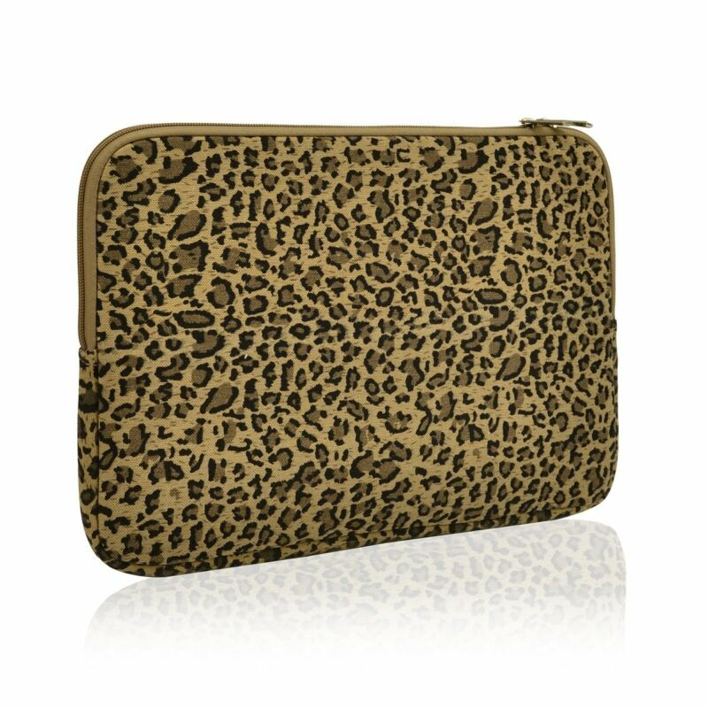 UNIK CASE-Yellow Leopard Design Zipper Sleeve Bag For All 13-Inch Laptop  • 11.99$