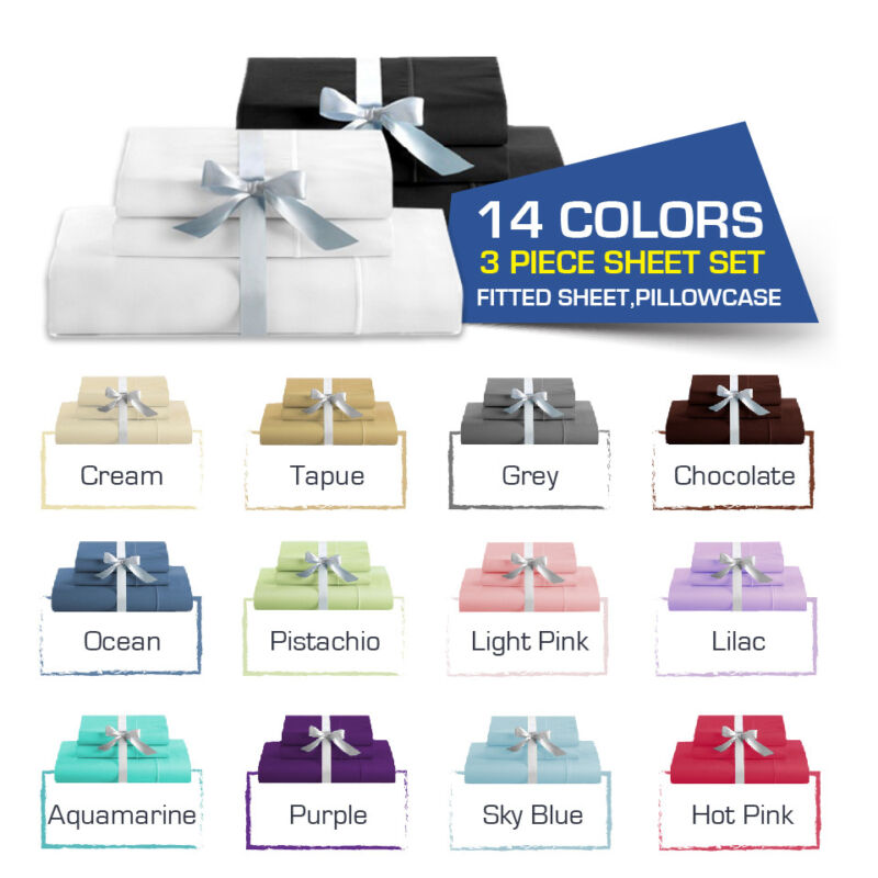 AU25.20 • Buy SINGLE-KING Single-DOUBLE-QUEEN/KING Bed FITTED SHEET(Fitted & Pillowcases)