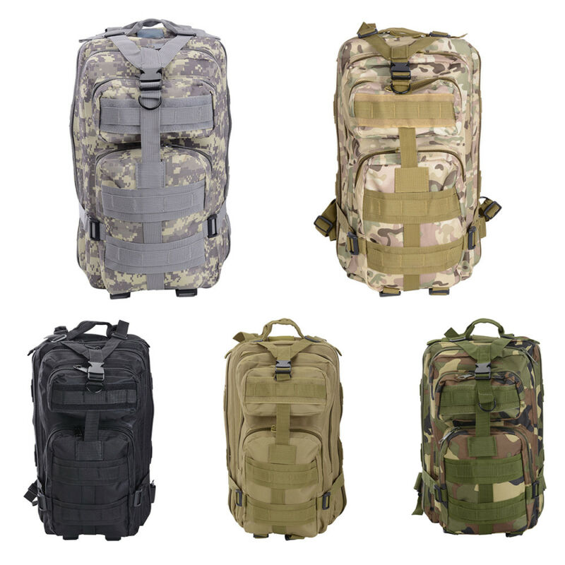 AU20.99 • Buy 28L Outdoor Hiking Camping Bag Army Military Tactical Rucksack Backpack Trekking