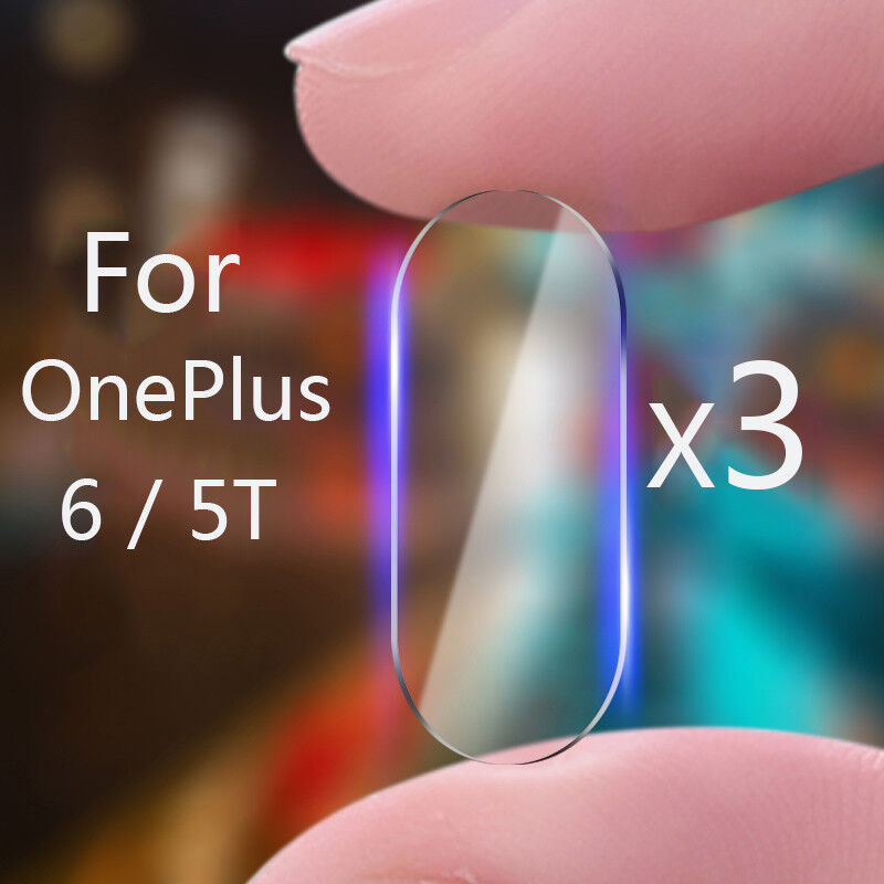 AU1 • Buy For OnePlus 6 5T  2.5D Back Camera Lens Tempered Glass Screen Protector Film