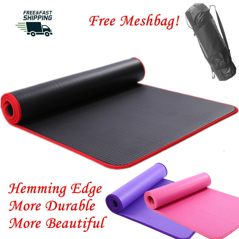 AU34 • Buy NBR Yoga Mat Exercise Fitness Gym Pilates Eco Friendly Non Slip Waterproof