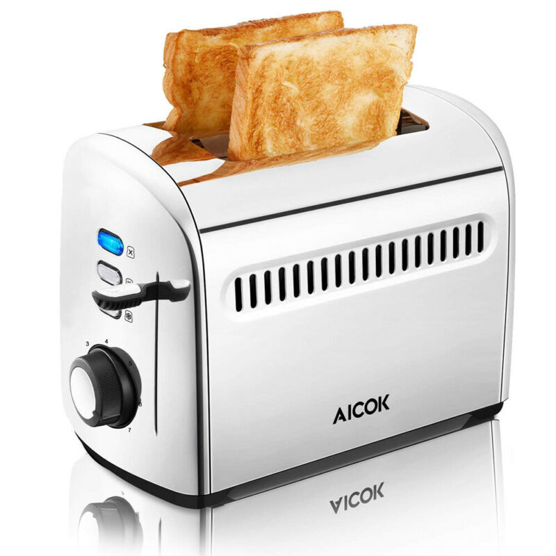 AU30.08 • Buy New 2 Slice Electric Automatic Toaster Stainless Extra Wide Slot With Crumb Tray