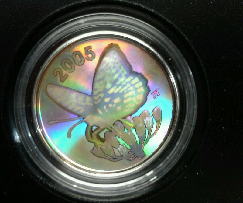 2005 Canada Great Spangled Fritillary Butterfly Coin • 42.50$