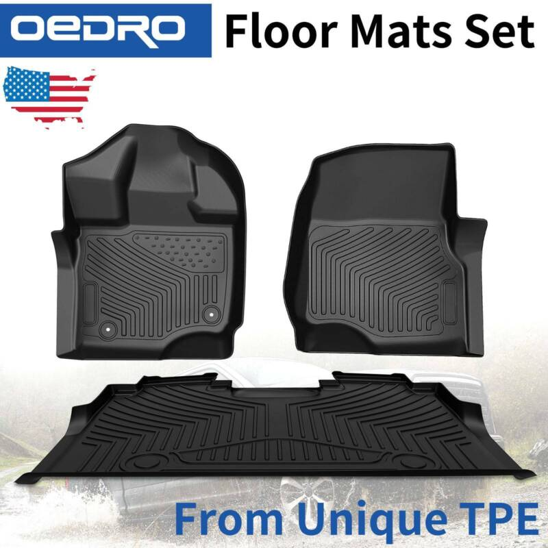 All-Weather Floor Mats Liners TPE For 2015-2020 Ford F150 F-150 SuperCrew Cab • 109.99$