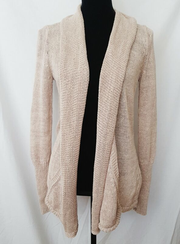 $ CDN29.50 • Buy Angels Of The North Anthropologie Women's Cardigan Canary Open Front Sweater  XS