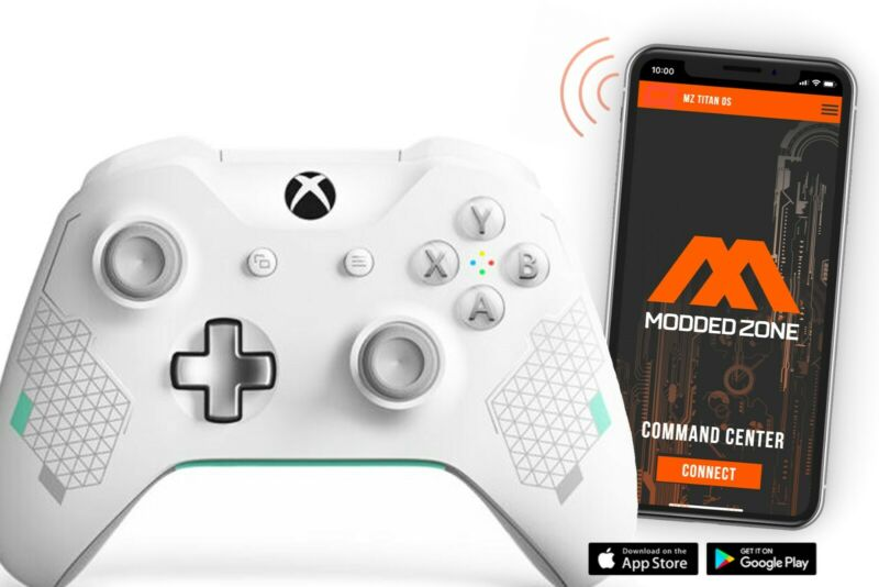 Sport White  Xbox One S / X Rapid Fire Modded Controller For ALL SHOOTERS GAMES • 99.95$