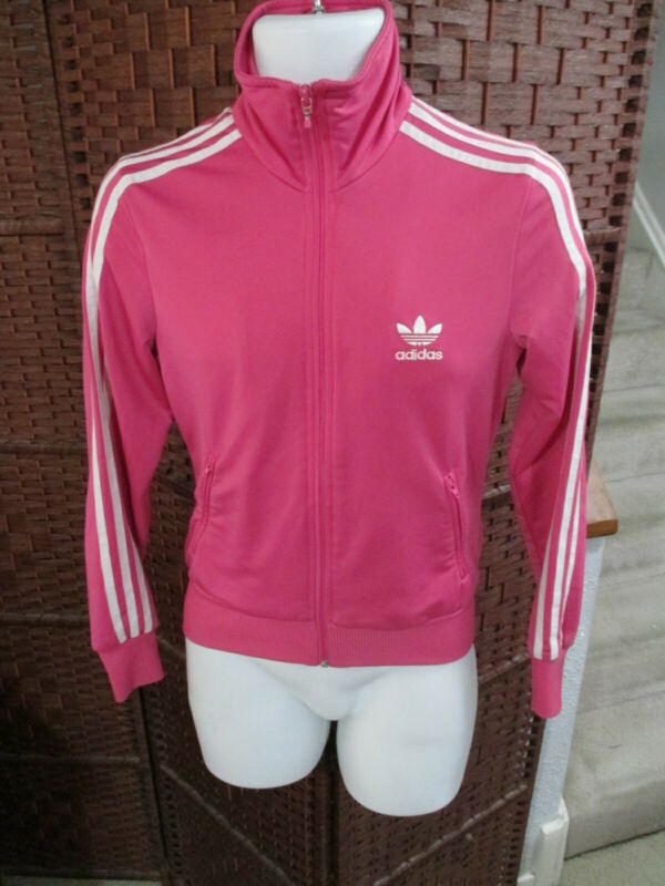 $ CDN20 • Buy Women's Adidas Track Jacket Pink 3 Stripes Size Small Trefoil Womens