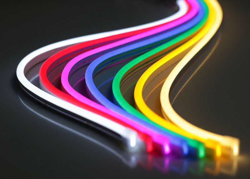 $7.99 • Buy 12V Flexible LED Strip Waterproof Sign Neon Lights Silicone Tube 1M 5M Or 50M