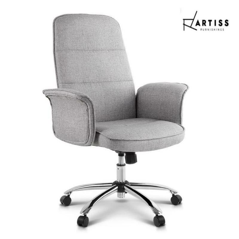 AU99.99 • Buy RETURN Artiss Fabric Office Chair Task Side Conference Computer Desk Chairs Seat