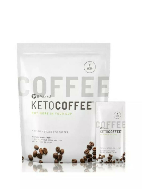 $36 • Buy It Works! Keto Coffee BRAND NEW & Sealed Bag Incl.15 Packets Carb Management