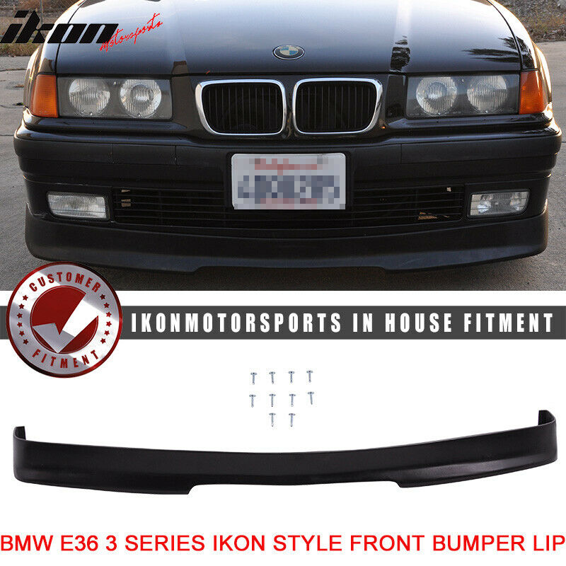 $52.99 • Buy Limited Time Offer: Fits 92-98 E36 3-Series PU IKON Front Bumper Lip Spoiler