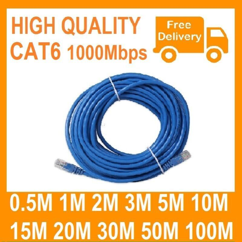 AU14.99 • Buy 1m 2m 3m 5m 10m 15m 20m 30m 50m 100m Ethernet Network Lan Cable CAT6 1000Mbps