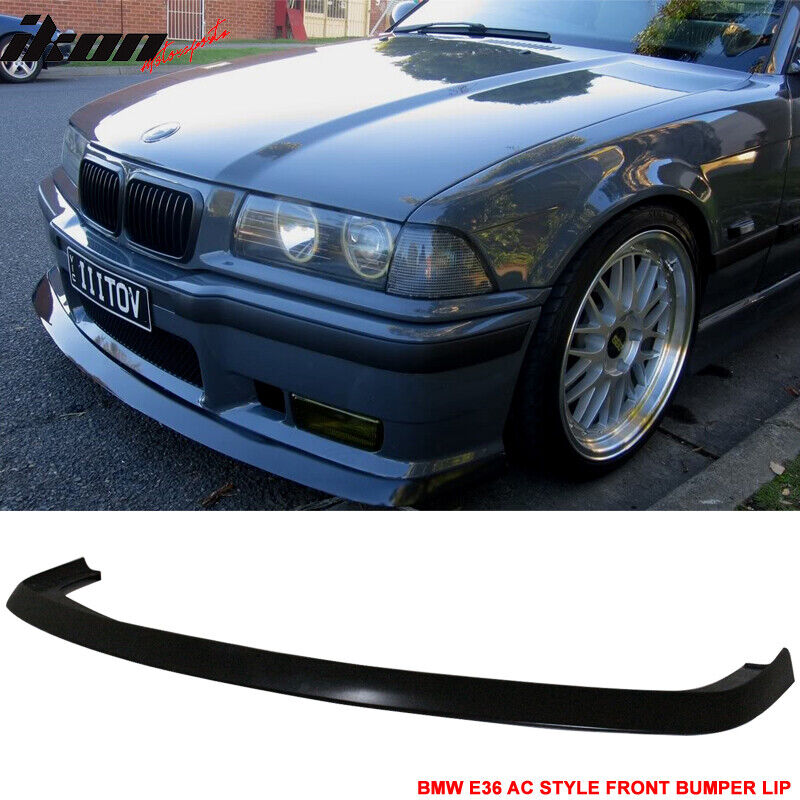 $105.90 • Buy Fits 92-98 BMW E36 M3 Only 2Dr 4Dr AC Style Front Bumper Lip Spoiler-Urethane PU