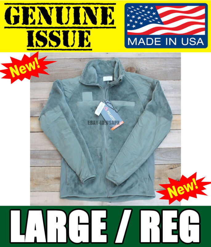 US Military Polartec Thermal Pro Jacket Gen III 3 USMC ARMY ECWCS Fleece LARGE L • 45.55$