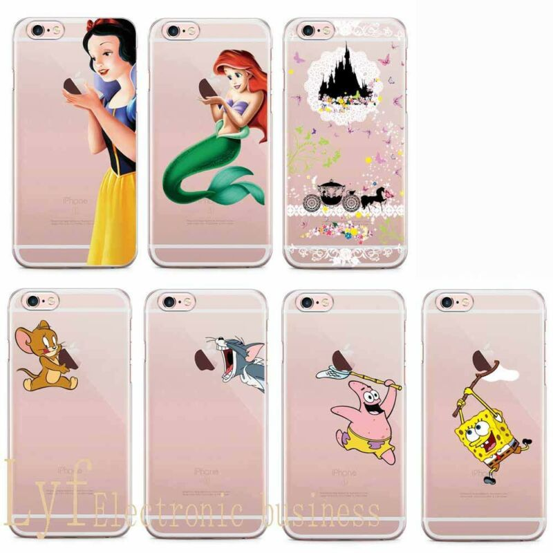 e3162a267c2 Disney Funda Carcasa Silicona Antigolpes Case IPhone SE 5 6 7 8 Plus XS Max  XR